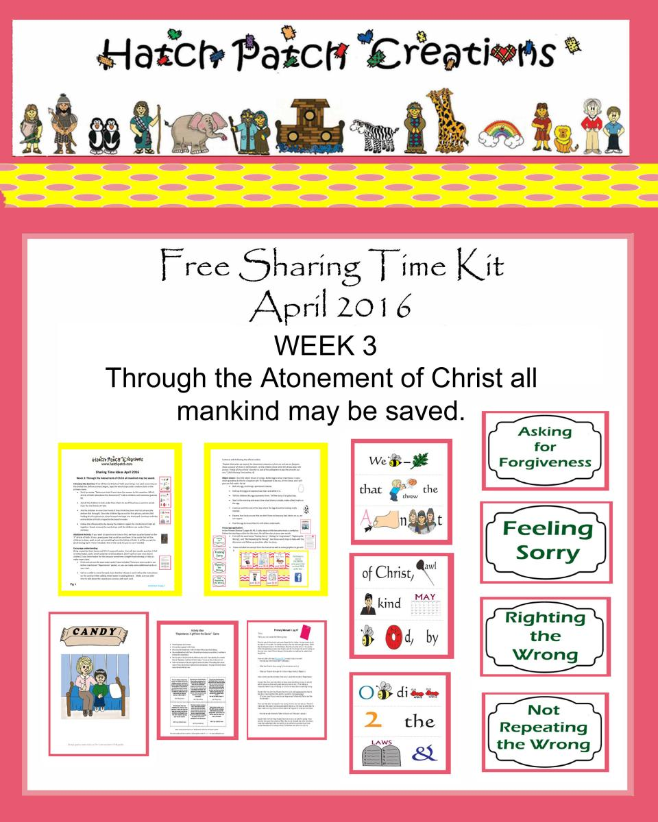 April 2016 sharing time ideas the idea door for Idea door primary sharing time