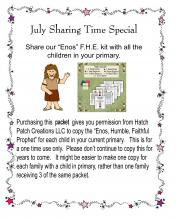 enos, sharing time, special